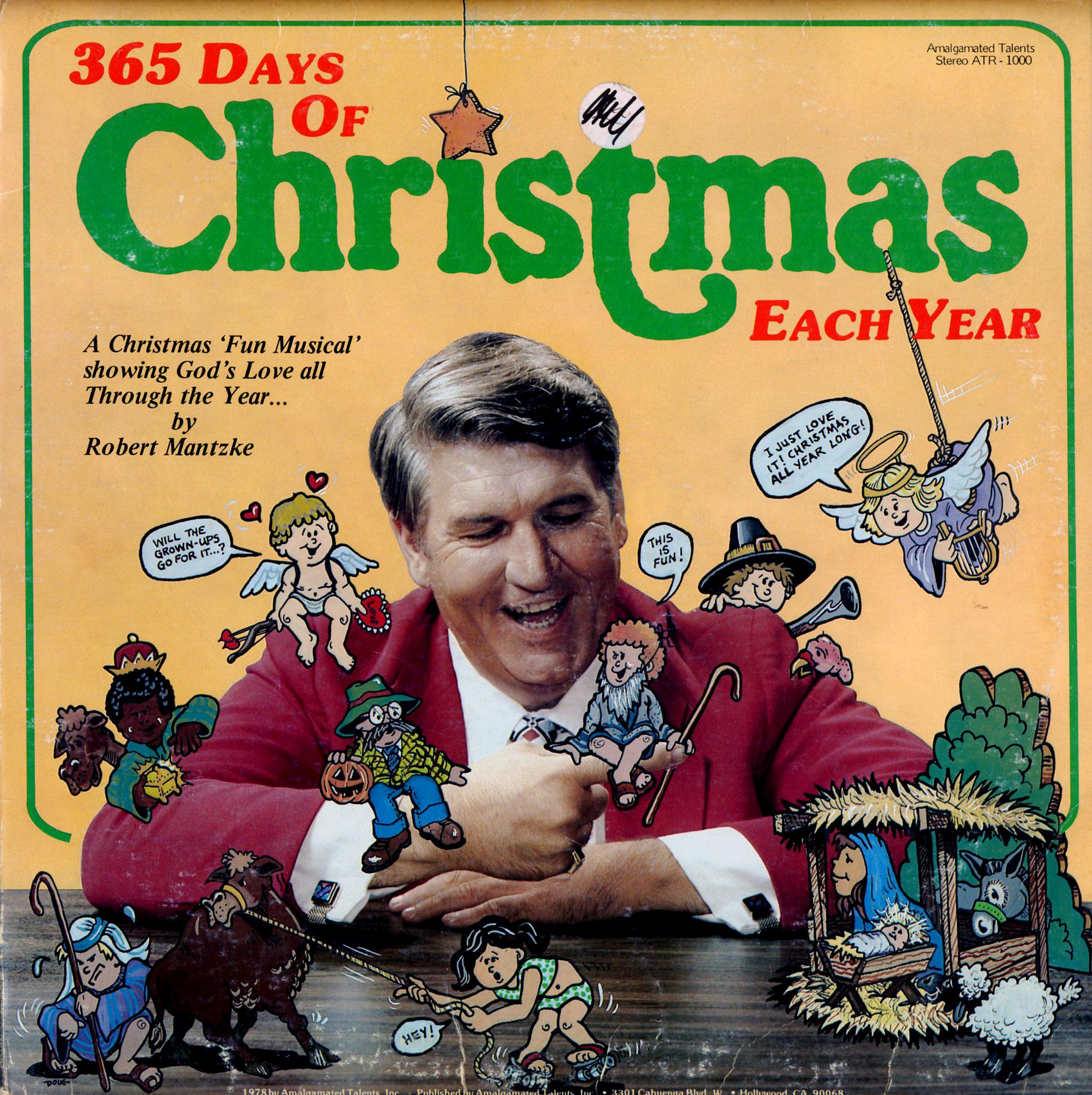 Mantzke, Robert. 365 Days of Christmas Each Year. A Christmas Musical. (ATR1000) - Christmas LPs ...