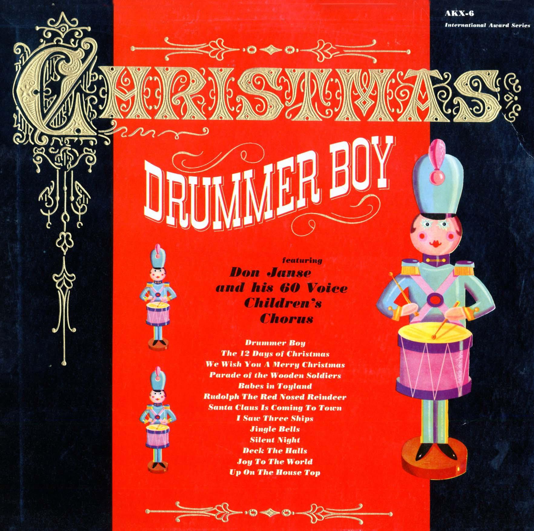 MP3 Download Janse, Don and his 60 Voice Children's Choir. Christmas Drummer Boy (AKX6, KX6 ...