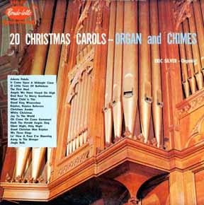 LP - Silver, Eric 20 Christmas Carols Organ and Chimes
