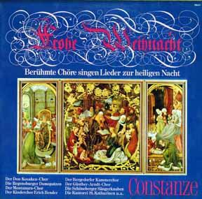 LP - Beruhmte Chore singen Lieder zur heiligen Nacht Frohe Weihnacht