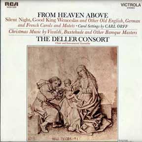 CD - Deller Consort From Heaven Above Choir & Instrumental Ensemble