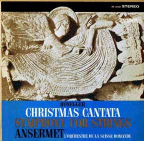 LP - Ansermet, Ernst Suisse Romande, L'Orchestre de la Christmas Cantata Symphony for Strings