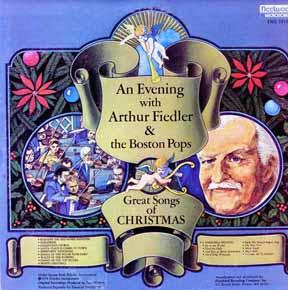 LP - Fiedler, Arthur Great Songs of Christmas Boston Pops